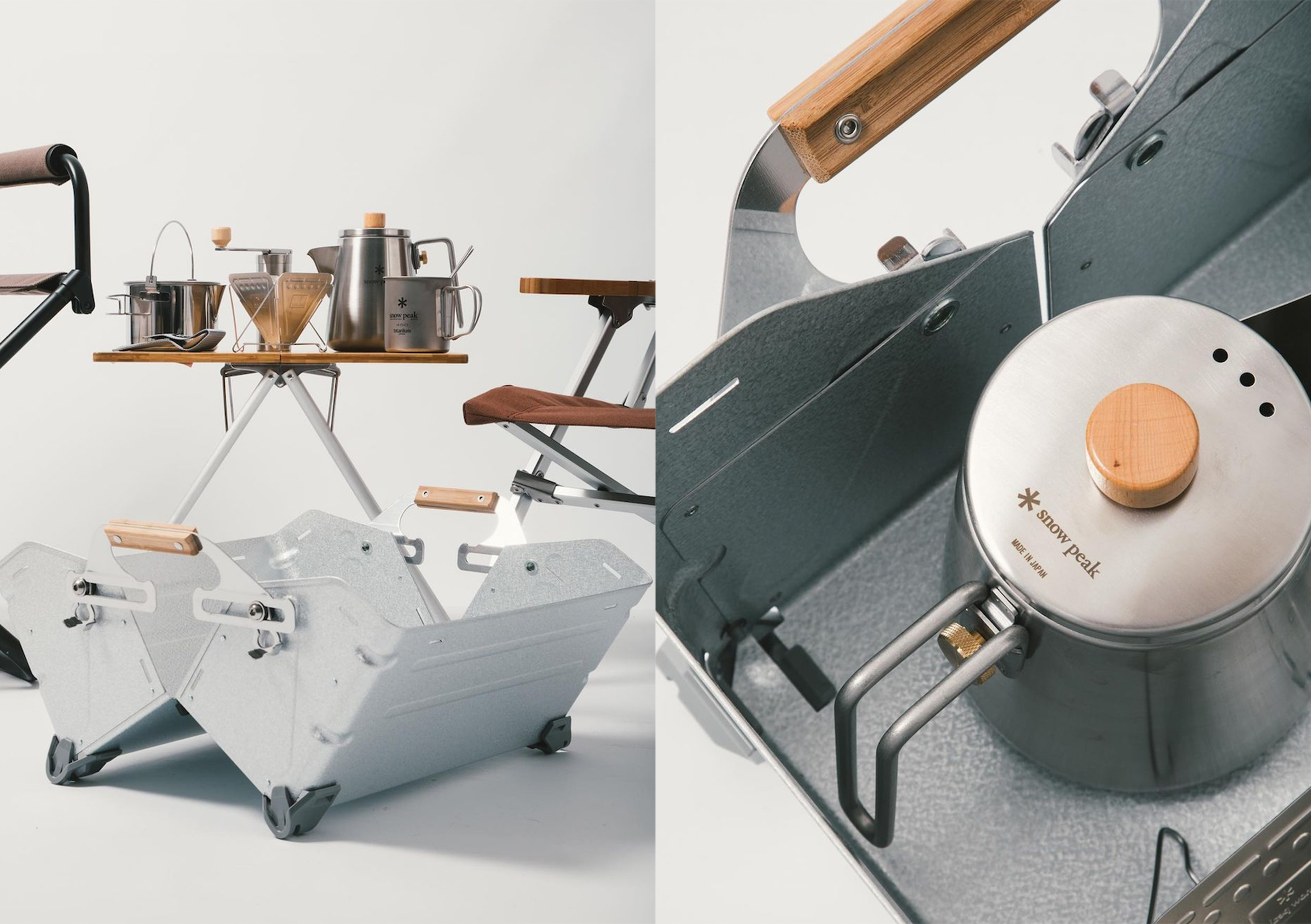 snow-peak-equipment-on-table