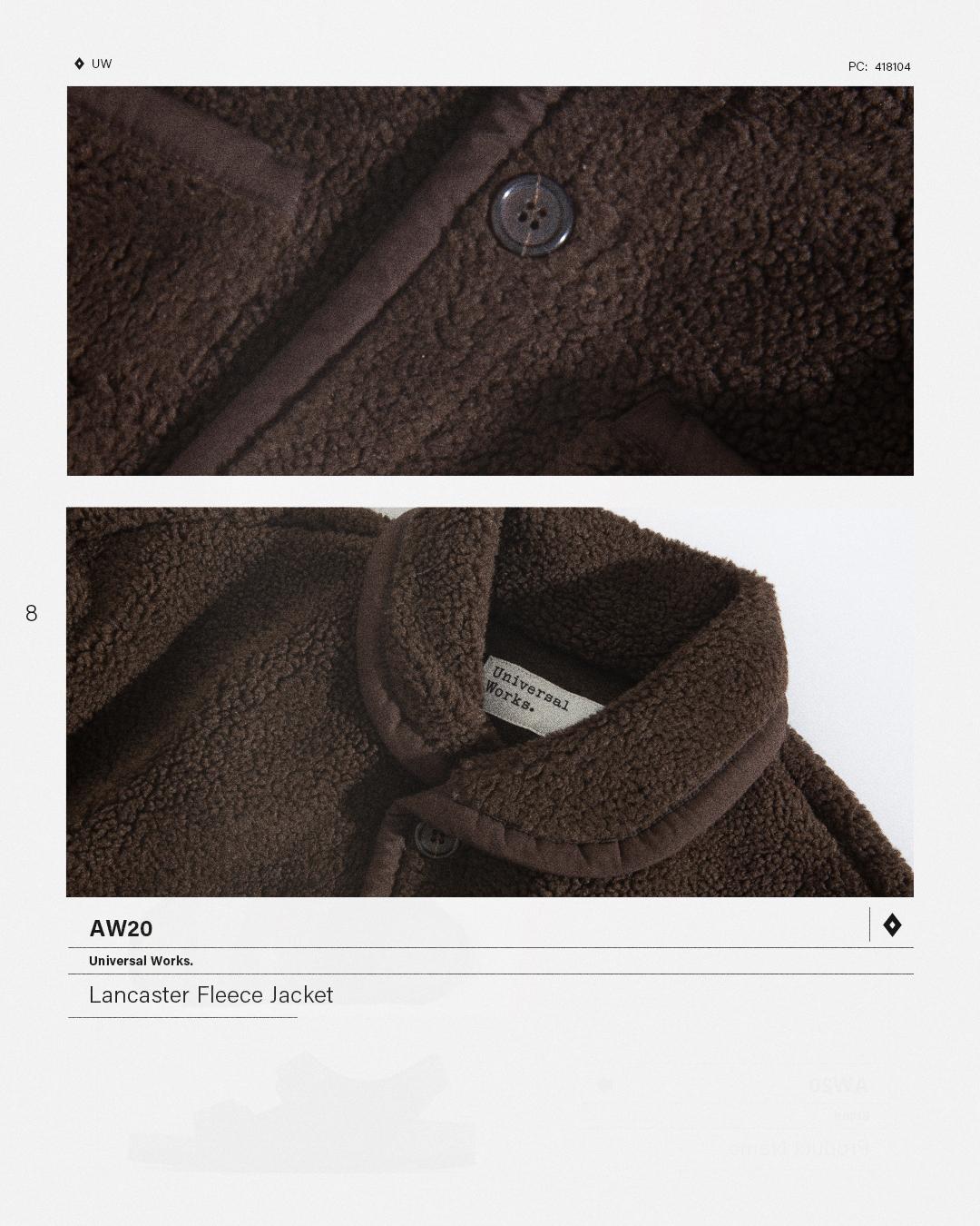 HIP Staff Picks: Universal Works AW20 Lancaster Fleece Jacket