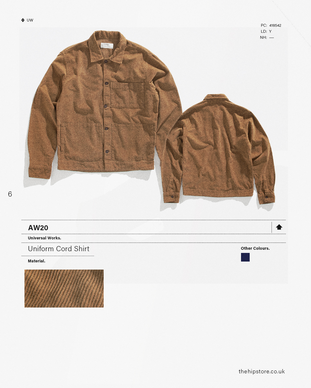 HIP Staff Picks: Universal Works AW20 Uniform Cord Shirt