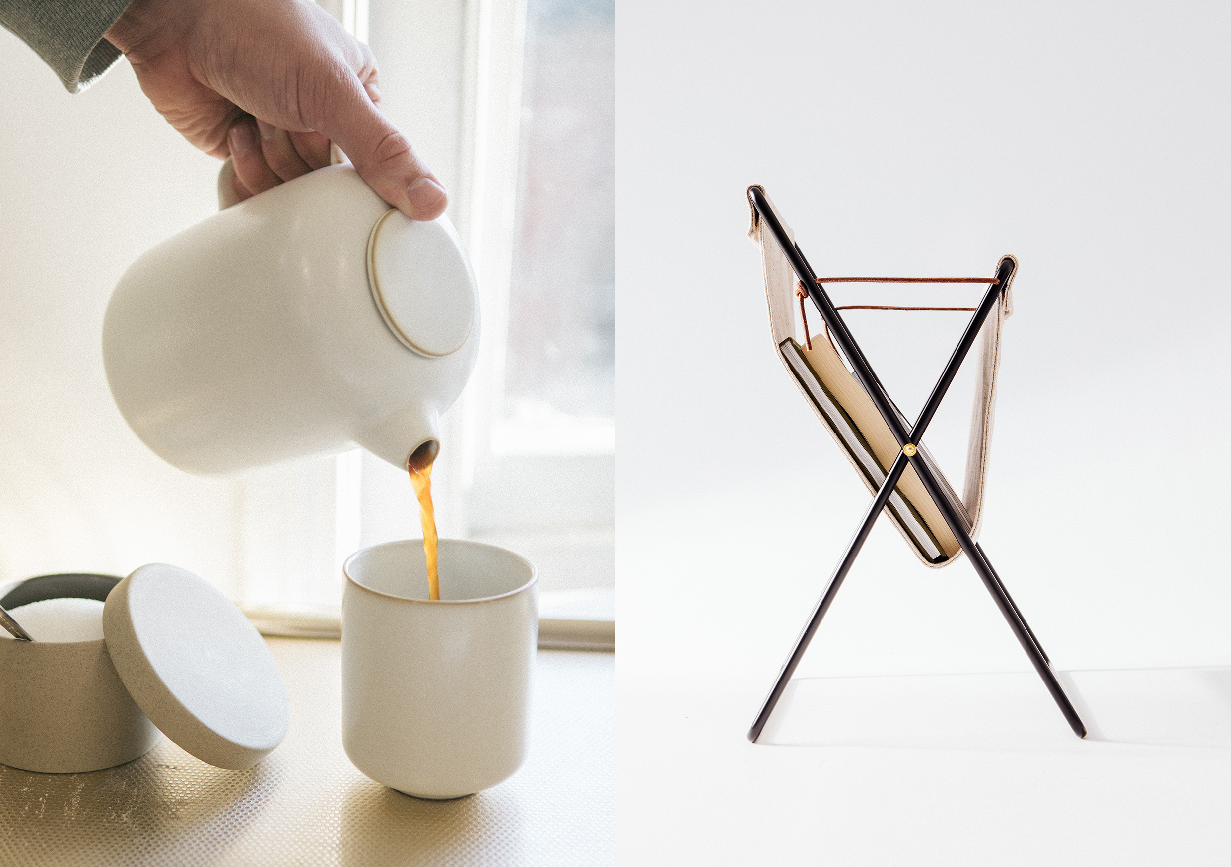 HIP Living - Ferm Living - Teapot and magazine stand
