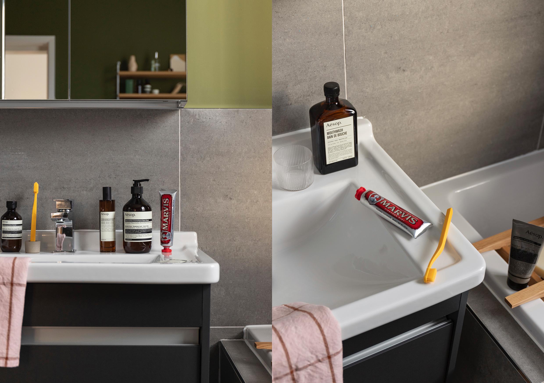 HIP Living - Bathroom - Sink - Toothbrush - Aesop - Marvis