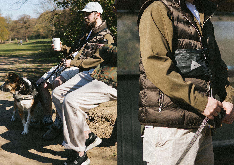 HIP Does Gorpcore Dog Walking Jacket Bag Shoes