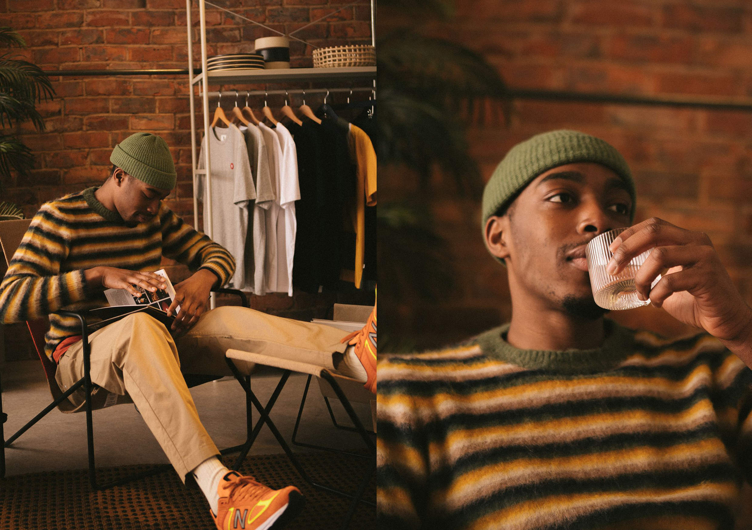 Wood Wood SS21 Collection At HIP striped sweater