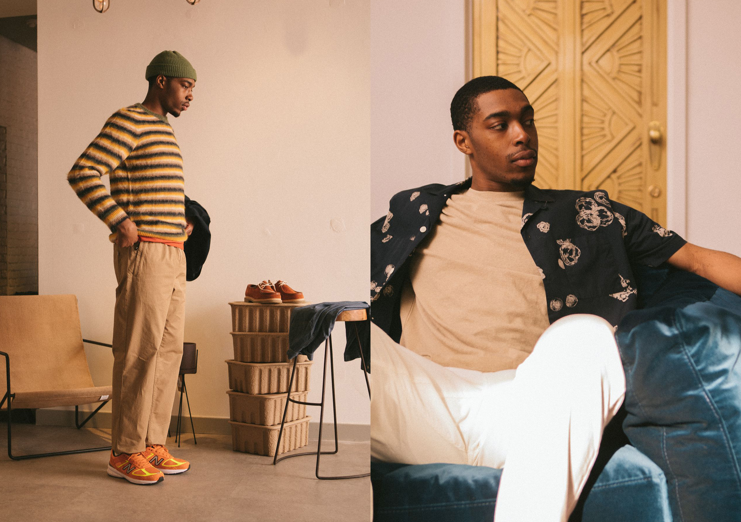 Wood Wood SS21 Collection At HIP shirt striped sweater